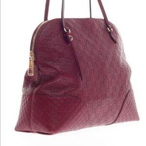 Gucci Bags - Gucci Bree Dome Tote in Ruby Red